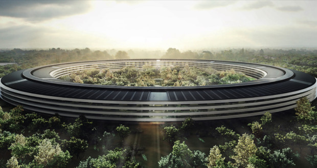 apple-campus-headquarter-drone-video