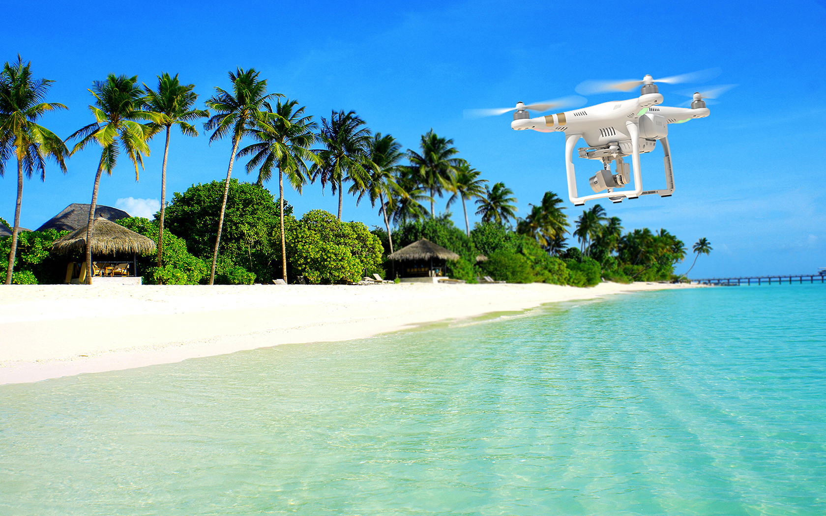 DJI Phantom At The Beach