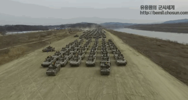 drone-south-korea-armored-vehicle-parade