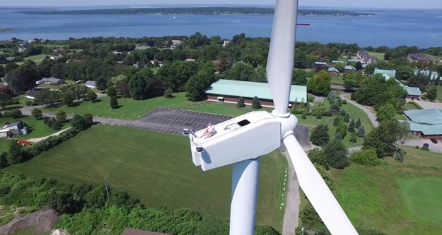 drone-sunbathing-wind-turbine