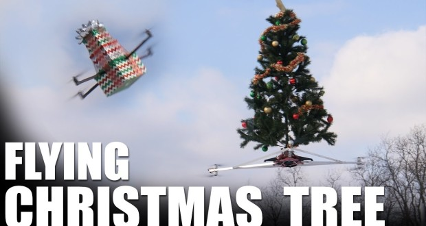 flying-christmas-tree-drone