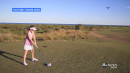 Girl Smashes Drone with Golf Ball