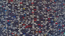 Insane Traffic Jam in China Captured by Drone